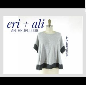 ANTHROPOLOGIE  eri + ali boxy top SM EUC